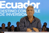 El presidente de Ecuador, Lenín Moreno, en un acto en Guayaquil.