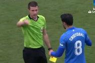 Cristóbal ve la segunda amarilla y es expulsado por Díaz de Mera.