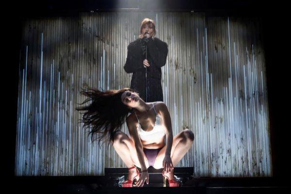 Un momento de la representación de la obra teatral 'Prostitución'.