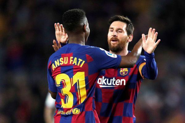 GRAF3410. BARCELONA.- El delantero del FC Barcelona <HIT>Ansu</HIT>...