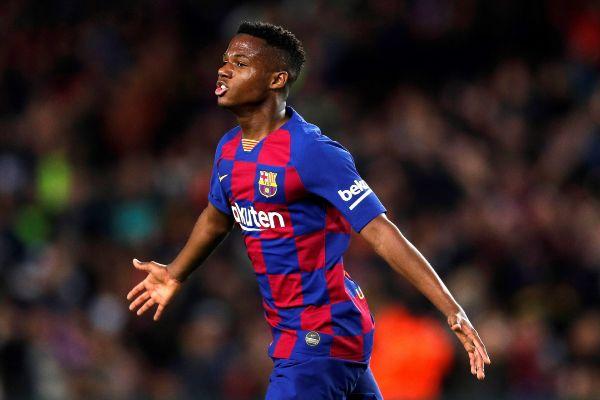 GRAF3409. BARCELONA.- El delantero del FC Barcelona <HIT>Ansu</HIT>...