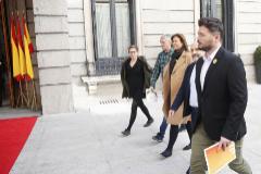 "ERC, Bildu y BNG reciben al Rey llamándole ""franquista"""