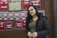 Débora, cuyo desalojo de una vivienda pública está programado para el miércoles.