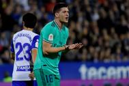Jovic, durante el partido ante el Zaragoza en la Copa del Rey.