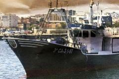 El Rúa Mar, un barco de hierro con una tripulación experimentada, cuyo nombre aparece en investigaciones por narcotráfico.