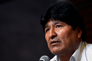 Bolivia's former President lt;HIT gt;Evo lt;/HIT gt; lt;HIT gt;Morales lt;/HIT gt; speaks during a news conference in Buenos Aires