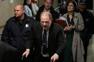 Harvey Weinstein, durante la sesión del juicio en la que declaró Jessica Mann.