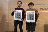 Los dos concejales de Podem-EU en Castellón, Fernando Navarro y María Jesús Garrido.