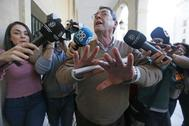 Juan Cano, principal acusado, una vez ha sido absuelto y ha abandonado la Audiencia
