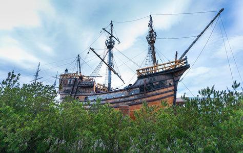 Réplica de la nao 'Victoria, comandada por Magallanes, en Punta Arenas.