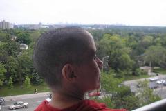 La víctima, durante la época en que recibió quimioterapia.