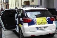 Un vehículo de la Policía Local de Burriana.