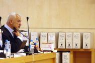 Luis Pineda, en una sesión del juicio contra él en la Audiencia Nacional.