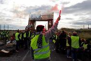 Una de las manifestaciones de los 'chalecos amarillos' en Francia.