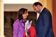 La ministra de Defensa, Margarita Robles, y el ministro de Transporte, Movilidad y Agenda Urbana, José Luis Ábalos.