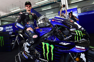 Sepang (Malaysia).- A handout photo made available by the Sepang International Circuit of Spanish MotoGP rider lt;HIT gt;Maverick lt;/HIT gt; lt;HIT gt;Vinales lt;/HIT gt; of the Monster Energy Yamaha MotoGP team posing with his new bike at Sepang International Circuit, outside Kuala Lumpur, Malaysia, 06 February 2020. (Motociclismo, Ciclismo, Malasia) EPA/DOUT HANDOUT EDITORIAL USE ONLY/NO SALES