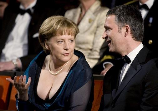 Angela Merkel en la inauguración de la ópera de Oslo en 2018