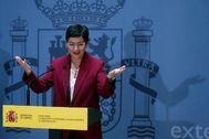 Arancha González Laya, en un acto en la sede de Exteriores.
