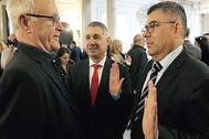 El alcalde de Valencia,JoanRibó, junto al delegado del Gobierno, Juan Carlos Fulgencio, ayer.