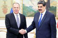 Nicolás Maduro recibe al ministro de Asuntos Exteriores ruso.