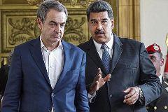 El ex presidente del Gobierno José Luis Rodríguez Zapatero y Nicolás Maduro.
