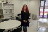 Erika Cadenas, concejala de Unidas Podemos en el Ayuntamiento Badajoz, este viernes en su aún despacho.