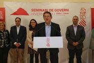 Puig interviene al final del Seminari de Govern celebrado en Dénia.