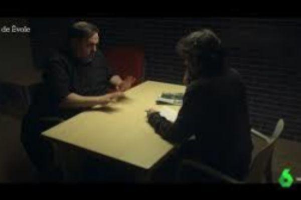 Oriol Junqueras y Jordi Évole, durante la entrevista en La Sexta.