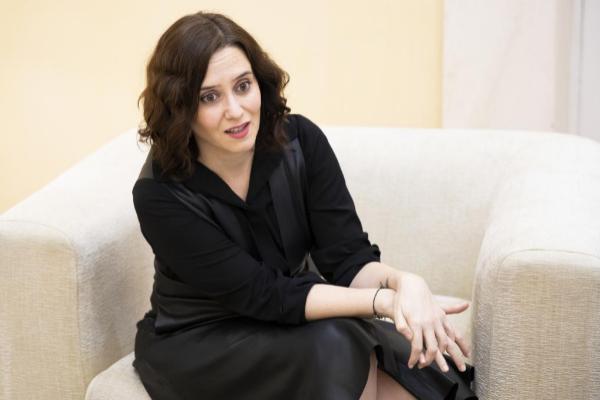 La presidenta de la Comunidad de Madrid, Isabel Díaz Ayuso, en la...