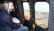 Pedro Sánchez en helicóptero.