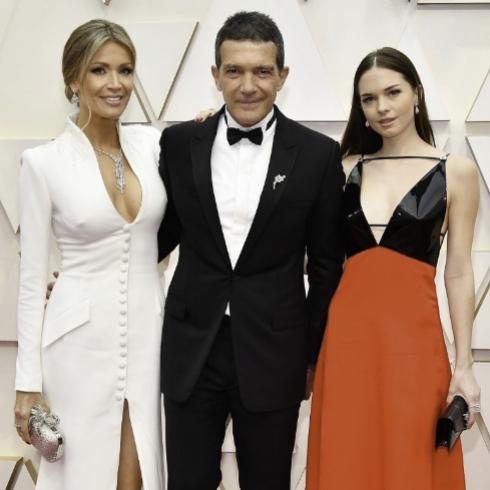 Nicole Kimpel, Antonio Banderas y Stella Banderas