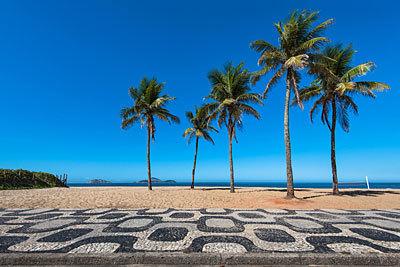 Copacabana y los mosaicos de Burle Marx.