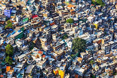 Panorámica de la favela Rocinho.