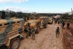 Soldados turcos al sur de Idlib.