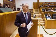 El 'lehendakari', Iñigo Urkullu, en el Parlamento vasco.