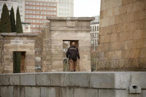 El templo de Debod, en el centro de Madrid