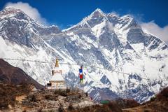 La cordillera del Himalaya vista desde el Tíbet.