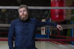 David Gistau, en el ring de boxeo del gimnasio Metropolitano.