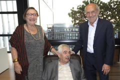 Diana Garrigosa, pascual Maragall y Ricardo Rodrigo en la editorial RBA en una imagen de archivo.