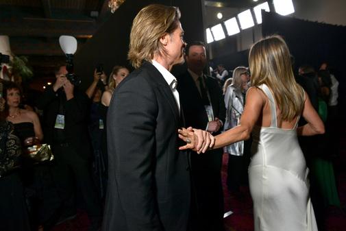 La pareja durante los Premios del Sindicato de Actores.