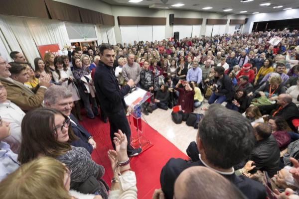 El secretario general del PSOE, Pedro Sánchez, en un acto en...