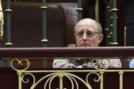 Ángel Hernández, que ayudó a morir a su pareja María José Carrasco, este martes, en el Congreso.