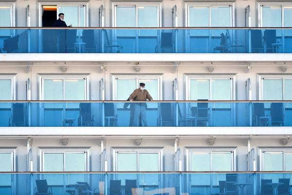 -FOTODELDÍA- FRA01. YOKOHAMA (JAPÓN).- Varios pasajeros del crucero...