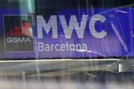 Logo of MWC20 ( lt;HIT gt;Mobile lt;/HIT gt; lt;HIT gt;World lt;/HIT gt; lt;HIT gt;Congress lt;/HIT gt;) is pictured in Barcelona