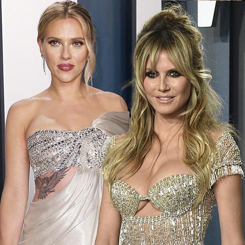 De Scarlett Johansson a Heidi Klum: los vestidos más sexys de los Oscar