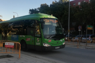 Línea de autobús interurbano de Madrid.