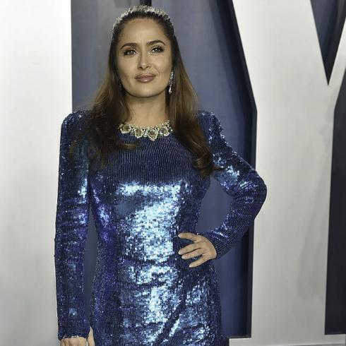 Salma Hayek -  Fiestas post Oscar 2020