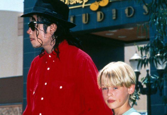 Michael Jackson y Macaulay Culkin, en una imagen de 1991.