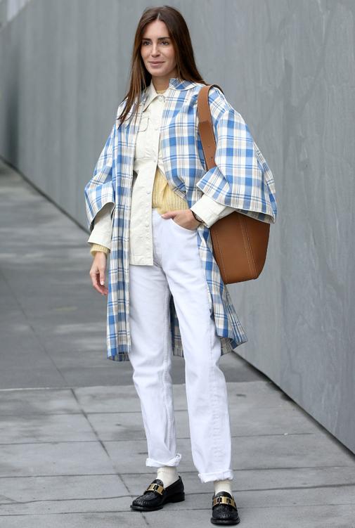 Gala González en la Semana de la Moda de Nueva York.