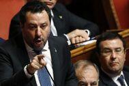 Matteo Salvini, en el Senado italiano.